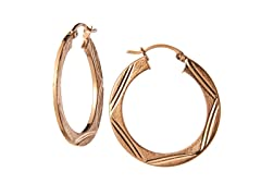 18kt Rose Gold Plated Silver Earrings