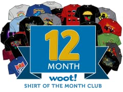 Woot Shirt Of The Month Club - 12 Month