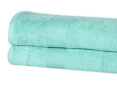 2-Pc 100% Cotton 550GSM Oversized Bath Sheets