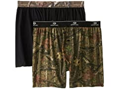 Nextex Men's Mossy Oak Moisture Wicking Knit Boxer Shorts, 2 PK