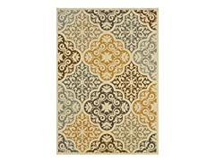 Tahiti Ivory/Grey Rug (Multiple Sizes)
