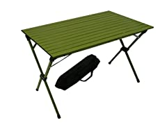 Tall Aluminum Portable Table, Green