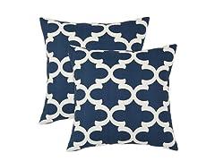 Fynn 17x17 Pillows - Cadet - Set of 2