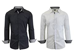 GBH Men's LS Solid Dress Shirt 2-Pack
