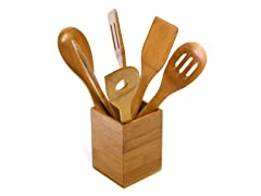 Square Caddy with 6 Utensils