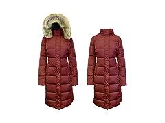 Womens Parka Jacket w/ Faux Fur Hood