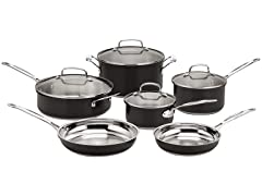 Cuisinart Black 10 Piece Cookware Set