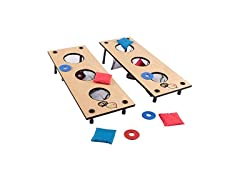 2-in-1 Washer Pitching and Beanbag Toss Game Set