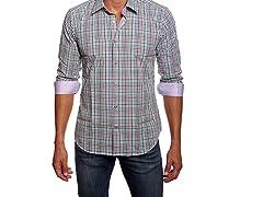 Jared Lang Dress Shirt, Multi Gingham