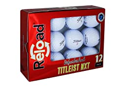 12pk of Refinished Titleist NXT Tour