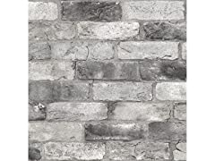 Grey London Brick Peel & Stick Wallpaper