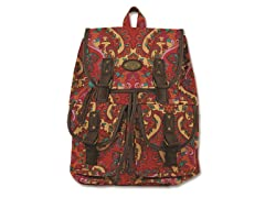 Karma Marrakech Damask Rucksack, Red