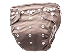 Adjustable Cloth Diaper - Simply Taupe