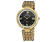 August Steiner AS8065YG Women's Pearl w/ Diamond -Gold