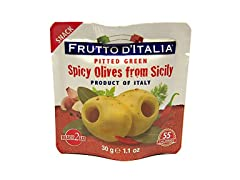 Green Spicy Pitted Olives in Pouch, 1.1…