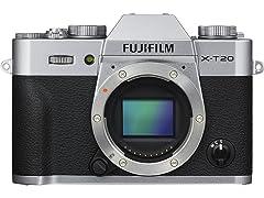 Fujifilm X-T20 Mirrorless Digital Camera - Silver