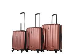 Mia Toro ITALY Illeso Hardside Spinner Luggage 3PC Set