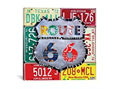 Route 66 Recycled License Plate Sign II (Your Choice)