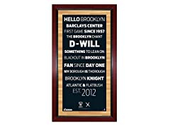 "Brooklyn Nets 16"" x 32"" w/ Game-Used Net"