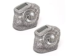 Touch of Eco Solar Rock Lights: 2 or 6-Pack