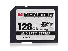 Monster Mil-Spec 128GB Class 10 SD Card