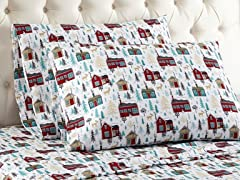 Thermee Micro Flannel Printed Sheet Set