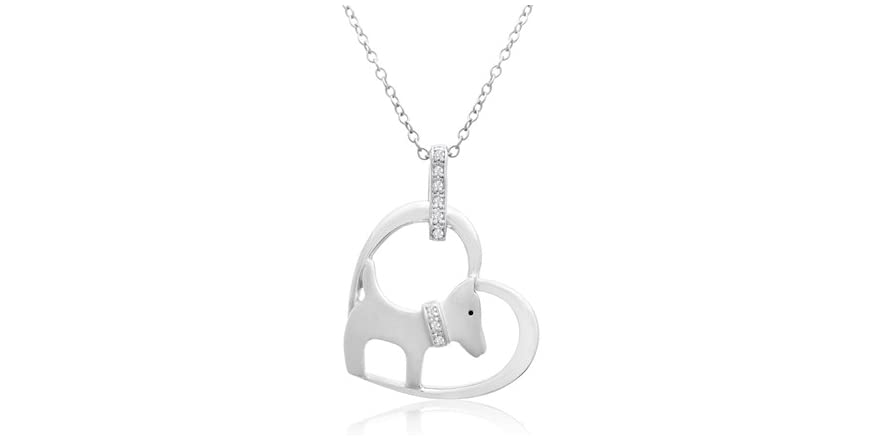aspca tender voices sterling dia and necklace 1