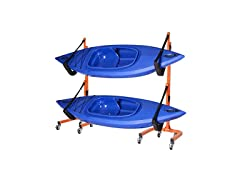 Rolling 2 Kayak Rack Storage