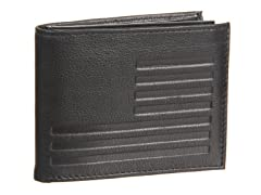 William Rast Slimfold Wallet with Passcase, Black