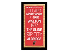 "Portland Trail Blazers 9.5"" x 19"" Sign"