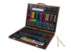 173-Piece Art Set with Wooden Case