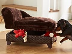 Ultra Plush Snuggle Bed Brown Basket