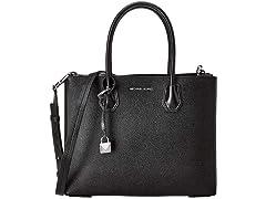 Michael Kors women Mercer handbags black 30F8SM9T3T-001  (Open Box)