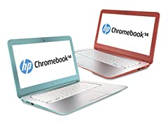 "HP 14"" Dual-Core Chromebook - Peach"