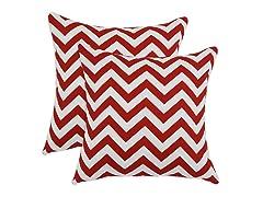 Zig Zag Lipstick 17x17 Pillows-S/2