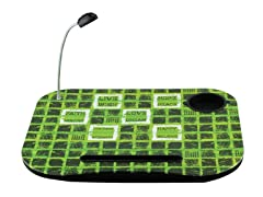 Laptop Cushion - Green With Words