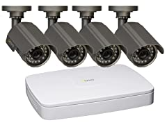 4CH 2CIF DVR Sys w/ 4 Weatherproof Cams & 500GB HD