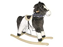 Pinto Rocking Horse With Moving Mouth & Tail