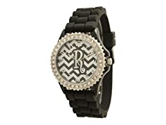 Zebra Print Letter Silicone Watch