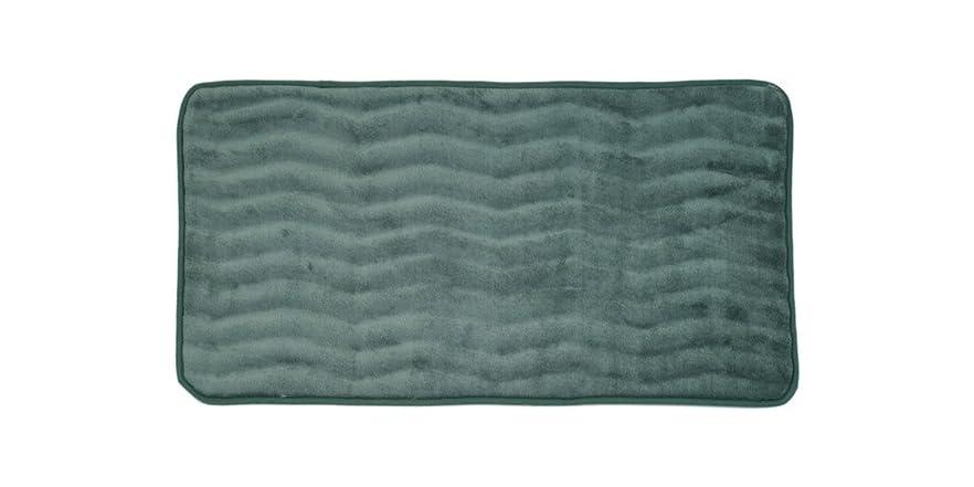Lavish Home Memory Foam Extra Long Bath Rug Mat Home Kitchen