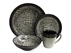 Tasmania 16Pc Dinnerware Set-Sand