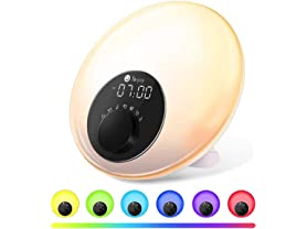 Tekjoy Wake Up Light Sunrise Alarm Clock with FM Radio