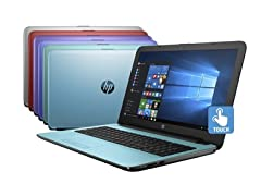HP 15.6 AMD Quad-Core 2TB Touch Laptops