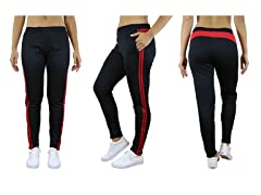 Carol Vee Women's Striped Track Joggers