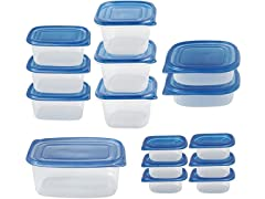 Plastic 30-Piece Food Storage Set