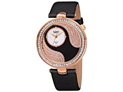 Burgi Women's Diamond Swarovski Accent Watch