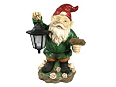 Sunnydaze Frankie JR. the Solar LED Lantern Welcome Gnome