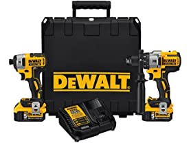 DeWALT 20V MAX XR 5.0Ah Brushless Drill/Driver Combo Kit