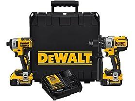 DeWALT 20V MAX XR 5.0Ah Brushless Drill/Driver Combo Kit
