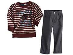 Striped Sweatshirt & Pants (12M-7)